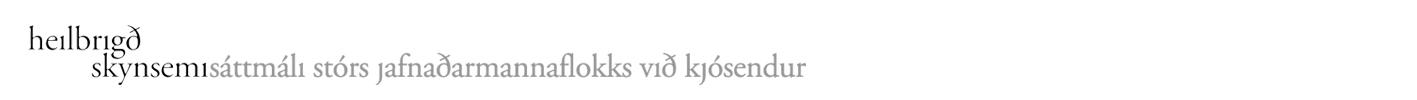 Sáttmáli stórs jafnaðarmannaflokks við kjósendur - Hausmynd